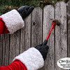 Project 365: December 5 - Santa's Helping Hand #5.<br /> <br /> Santa helps with fence repairs on the west side of Dasher's corral.
