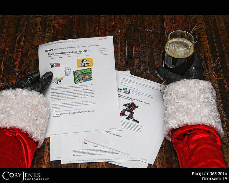 Project 365: December 19 - Santa's Helping Hand #19.<br /> <br /> Santa helps review the hottest toys of 2016 in case he needs to adjust the North Pole production lines to meet the delivery demands.