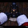 Project 365: December 7 - Santa's Helping Hand #7.<br /> <br /> Santa helps light the lantern for the caboose for the North Pole steam train.