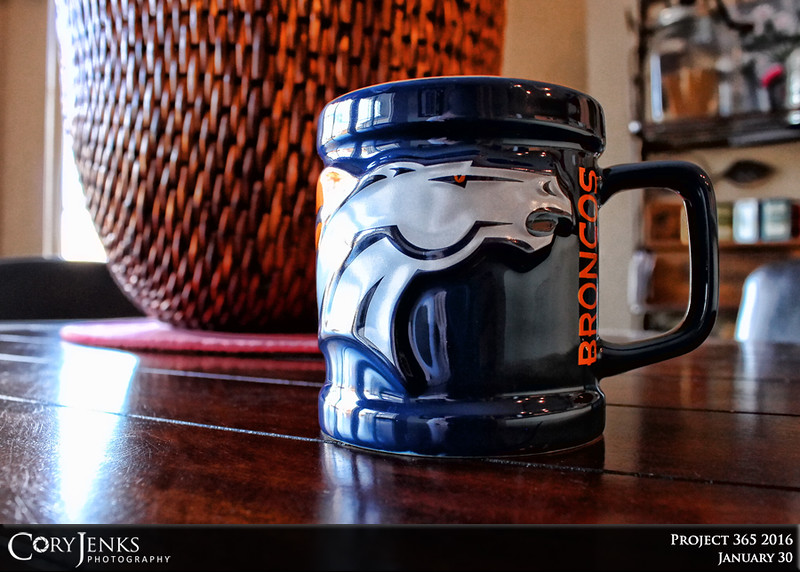 Project 365: January 30 - Best Start. The best start of the day can begin with a nice cup of coffee. Hopefully the Broncos will get their best start in the upcoming Super Bowl on their way to winning SB50!