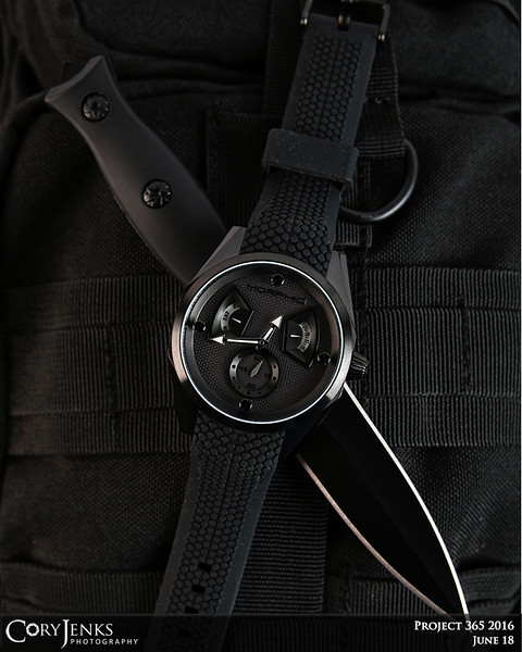 Project 365: June 18 - Classic Black. Most of my watches are classic black, for black is always sleek, timeless, and forever stylish.