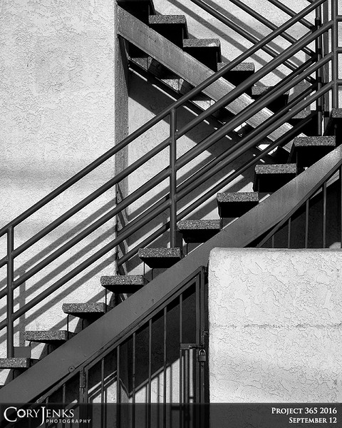 """Project 365: September 12 - Stairs.<br /> <br /> """"The vision must be followed by the venture. It is not enough to stare up the steps - we must step up the stairs.""""<br /> <br /> ~Vance Havner"""
