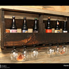 Project 365: July 26 - Up-Cycling. A beat up pallet turned into an bomber holder and glass rack.