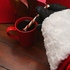 Project 365: December 10 - Santa's Helping Hand #10.<br /> <br /> Santa enjoys a quiet morning cup of coffee. And, Santa always has a peppermint stick with his hot cup of joe.
