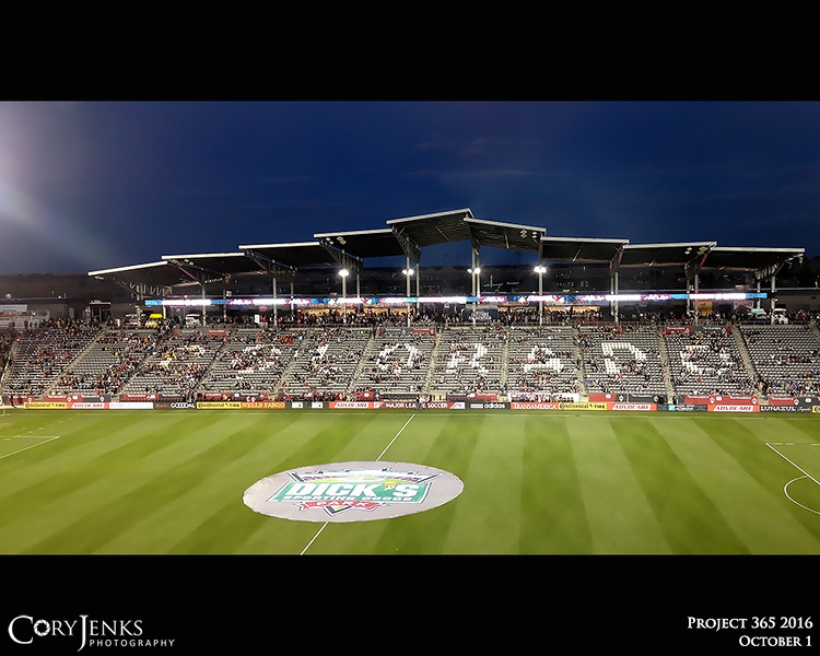 "Project 365: October 1 - Rapids. Spent a ""suite"" Colorado night watching the Rapids defeat the Portland Timbers 1-0 clinching their playoff spot in the MLS postseason, all courtesy of Westminster AFC and Adidas."