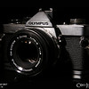 Project 365: September 15 - Olympus<br /> <br /> A forty-year-old Olympus OM-2. Not sure if it works, but maybe one day I'll slap some film in it and see what kind of photos it produces.
