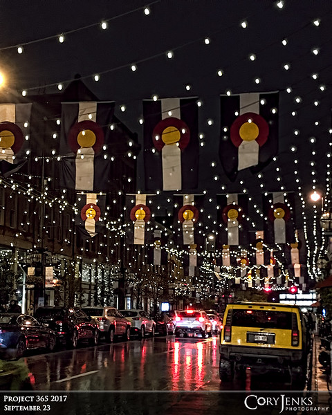Project 365: September 23 - Larimer at Night<br /> <br /> An evening glance at Denver's Larimer Street.