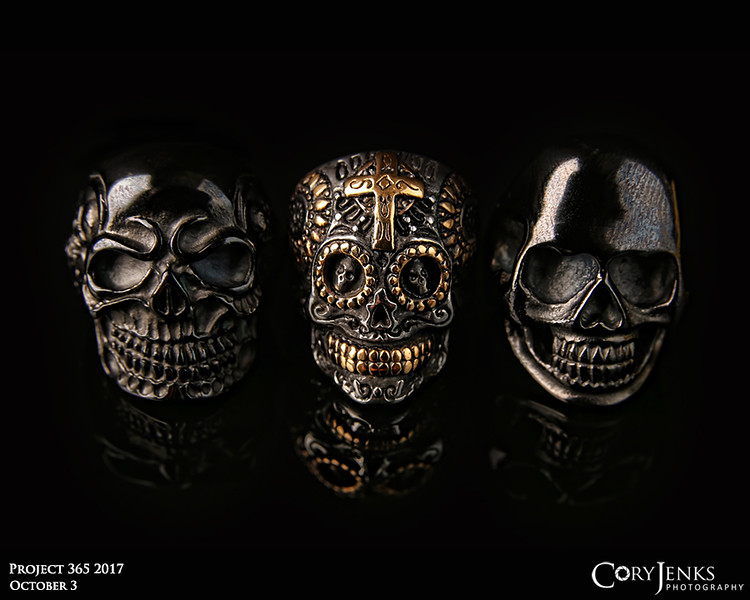 Project 365: October 3 - Three Skulls<br /> <br /> If you've been a fan of the Project 365 for the past several years, you know when the calendar flips to October the photos may get a bit creepier.