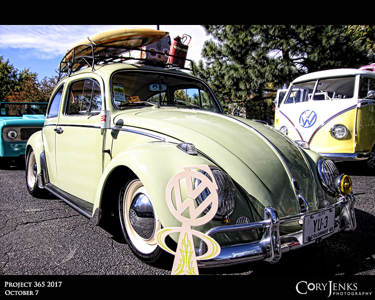 Project 365: October 7 - VW Show<br /> <br /> Went to the Primitive Soul Volkswagen Rendezvous Show today. Some great looking VWs in attendance and even a couple with surf boards. I totally get the Cal-look style, but a surf board on Colorado, not so sure.
