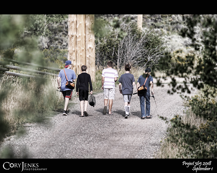 2018 Project 365: September 1 - Gone Fishin'<br /> <br /> The boys going to try their luck fishing on the Colorado River. Reminds me of the movie Stand By Me.