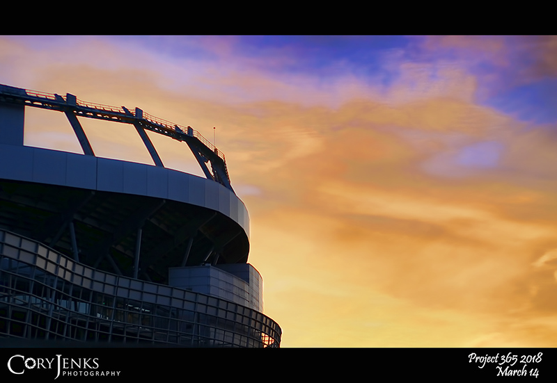 2018 Project 365: March 14 - Blue and Orange at Mile High<br /> <br /> Today marks the start of NFL free agency and the start of the football season. Go Broncos!