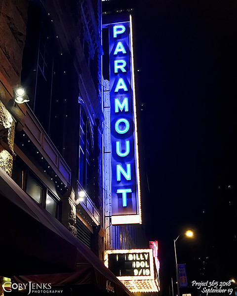2018 Project 365: September 19 - Idol<br /> <br /> Good night at the Paramount Theater with Billy Idol.