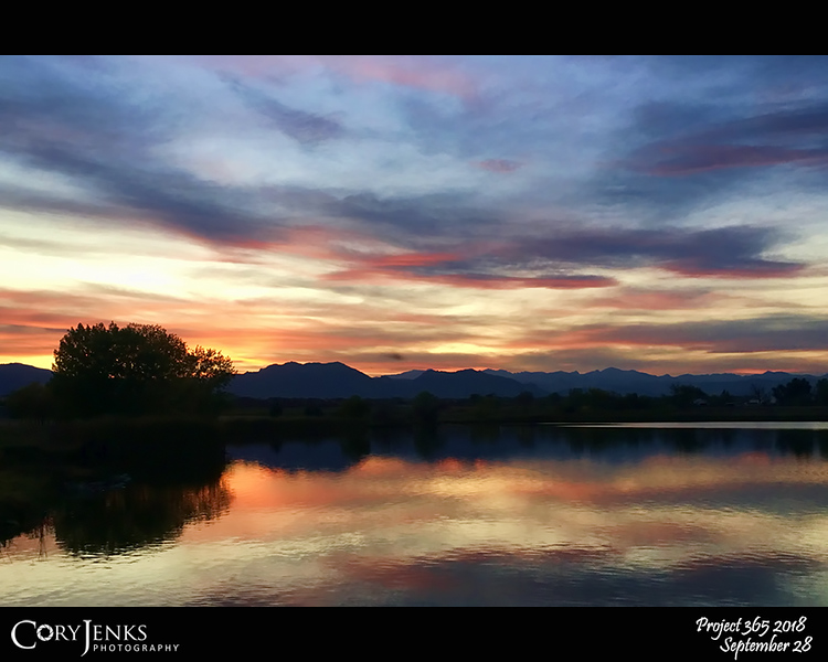 2018 Project 365: September 28 - Lake Therapy<br /> <br /> Sunset at the lake angling for some fish soothes my soul and calms my mind.