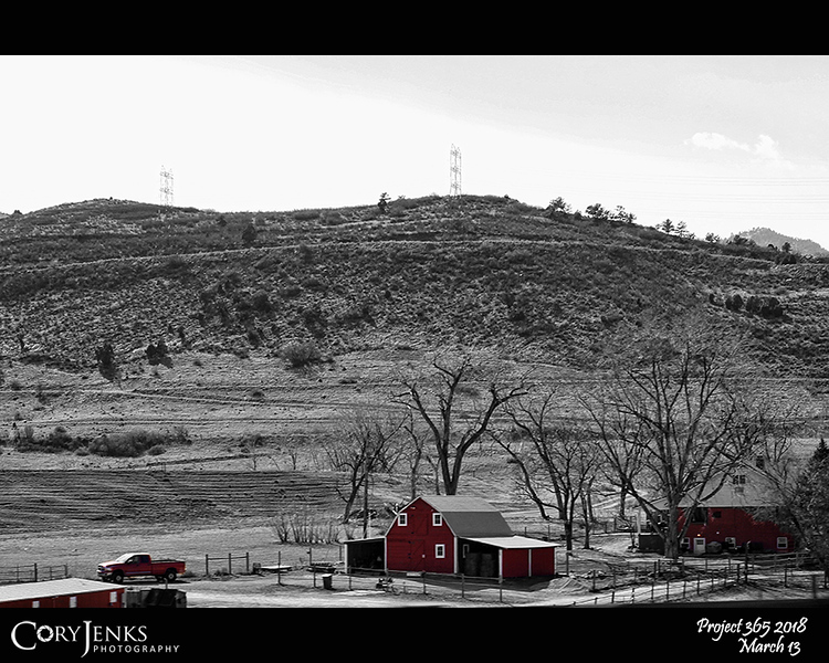 """2018 Project 365: March 13 - In The Red<br /> <br /> """"If everything isn't black and white, I say, 'Why the hell not?""""<br /> <br /> ~ John Wayne"""