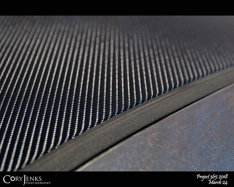 2018 Project 365: March 24 - It's A Wrap<br /> <br /> Peeling ugly paint on the roof of my car is now an OK carbon fiber vinyl wrap. Custom shop wanted $250. Amazon and a couple frustrating hours and it's a wrap.