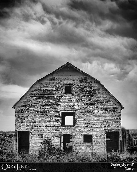 """2018 Project 365: June 7 - Old Barn<br /> <br /> """"I always find beauty in things that are odd and imperfect - they are much more interesting.""""<br /> <br /> ~ Marc Jacobs"""
