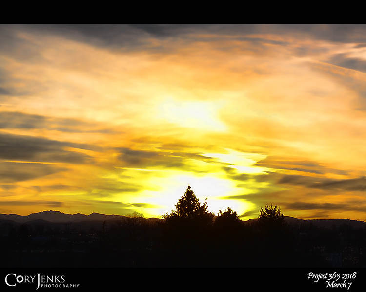 """2018 Project 365: March 7 - Silhouette Sunset<br /> <br /> """"Every sunset is an opportunity to reset.""""<br /> <br /> ~ Richie Norton"""