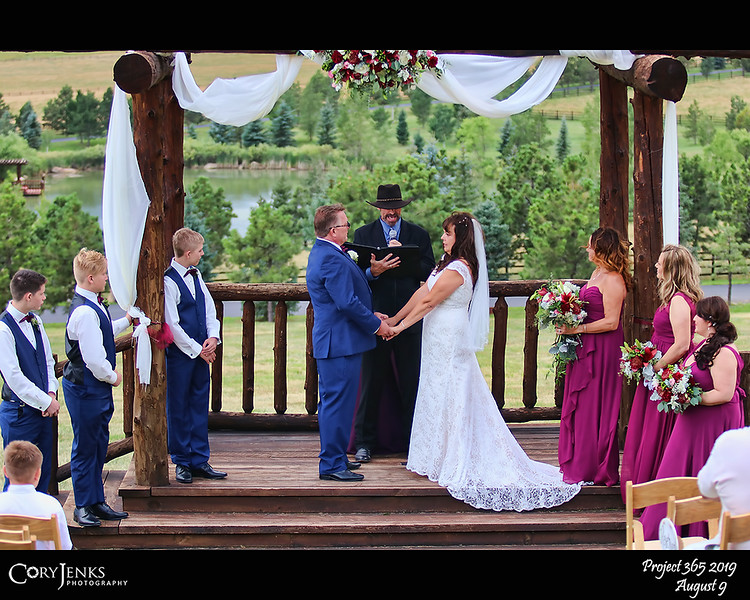 2019 Project 365: August 9 - The Timmons<br /> <br /> An absolutely beautiful wedding in a gorgeous setting at the Spruce Mountain Ranch in Larkspur Colorado. Concratulations to Lynette and Scott.
