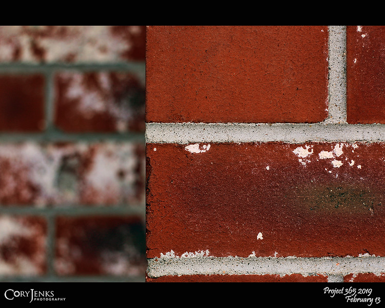 2019 Project 365: February 13 - Brick<br /> <br /> All in all it's just another brick in the wall<br /> All in all you're just another brick in the wall<br /> <br /> ~ Pink Floyd