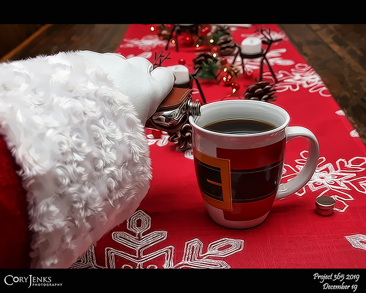 2019 Project 365: December 19 - Santa's Helping Hand #19<br /> <br /> Somtimes, not always, but sometimes Santa likes something more in his coffee than a peppermint stick. The North Pole  distillery produces a fantastic peppermint schnapps.