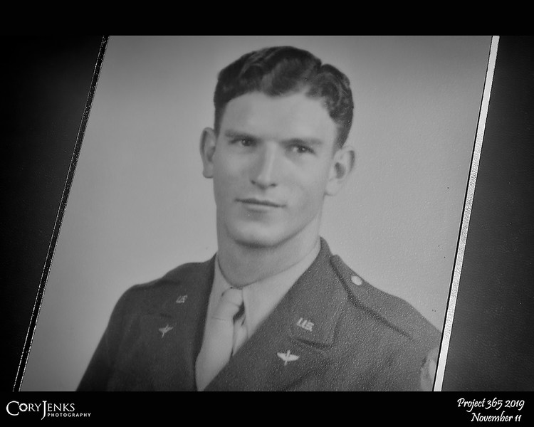 """2019 Project 365: November 11 - Veteran's Day<br /> <br /> """"May we think of freedom, not as the right to do as we please, but as the opportunity to do what is right.""""<br /> <br /> ~ Peter Marshall<br /> <br /> My Grandfather."""