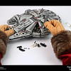2019 Project 365: December 17 - Santa's Helping Hand #17<br /> <br /> Santa knows with the release of The Mandalorian and the upcoming movie, The Rise of Skywalker, Star Wars toys are going to be big this holiday season. He tests his assembly skills at the North Pole Lego Factory with the Millennium Falcon. Assembled in 12 minutes 47 seconds, a new North Pole record.