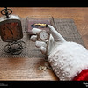 2019 Project 365: December 18 - Santa's Helping Hand #18<br /> <br /> Santa synchronizes his pocket watch with the official clock of the North Pole. Thes two time pieces will help Santa stay on time when he makes his journey around the world.