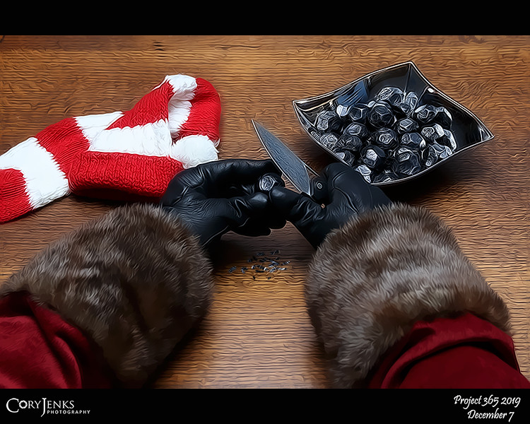 2019 Project 365: December 7 - Santa's Helping Hand #7<br /> <br /> Santa personally carves each piece of coal for the bad girls and boys that have earned them. Santa does not want to corrupt the cheerful and enthusiastic elves with such negative activity.