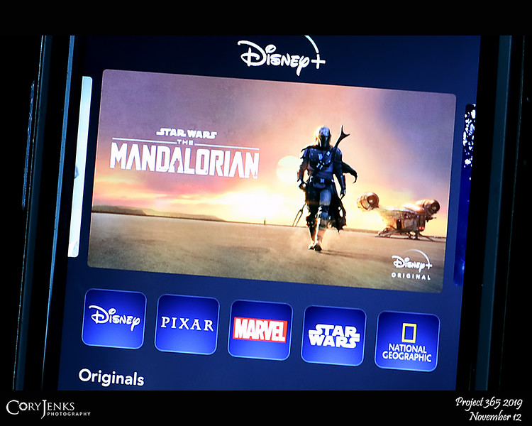 2019 Project 365: November 12 - Mandalorian<br /> <br /> Been waiting with anticipation for the release of The Mandalorian on Disney Plus. With the family sitting around  the family room, I am happy to say it did not disappoint!