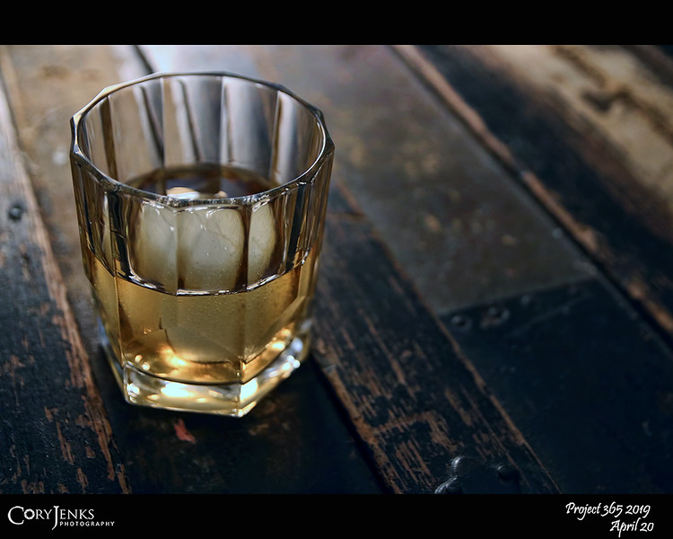 2019 Project 365: April 20 - Whiskey Remedy<br /> <br /> A bit of a cough and a little congestion, sounds like it's time for a bit of whiskey cure. We all know booze won't heal us, but small amounts of liquor can help relieve the symptoms of sore throats, muscle pain, congestion and sleeplessness.