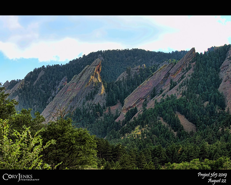 2019 Project 365: August 22 - Flatirons<br /> <br /> The Flatirons near Boulder, always a beautiful landscape to photograph.