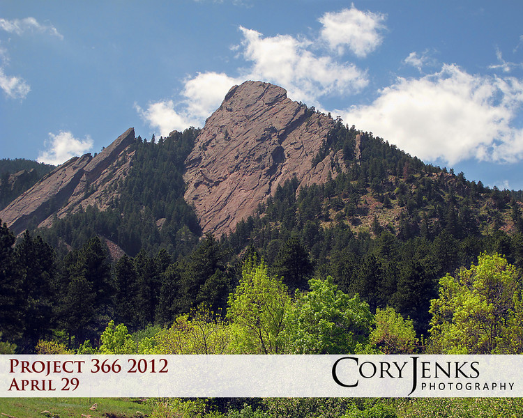 Project 366: April 29 - Mesa Trailhead. Hiked at Chautauqua Park in Boulder near the Flatirons. Beautiful Sunday afternoon.