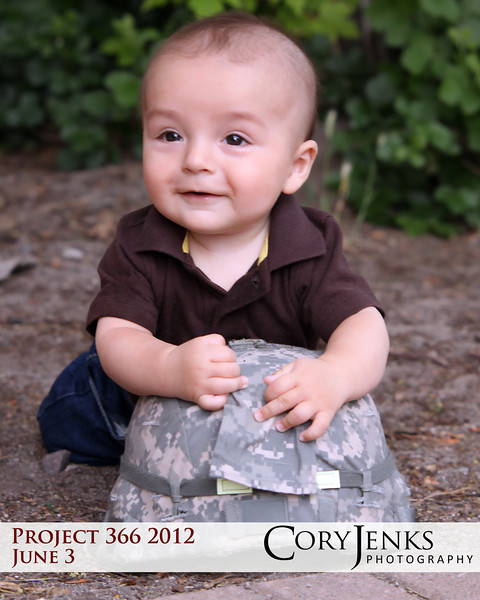 "Project 366: June 3 - Little Soldier. I was honored to shoot a military family for Operation: Love Reunited. This little guy's father is going to be deployed to Kuwait for the next year. Visit  <a href=""http://www.oplove.org"">http://www.oplove.org</a>"