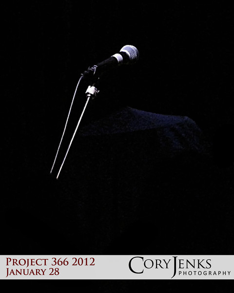 Project 366: January 28 - Silent Microphone. Concert started over an hour and a half late.
