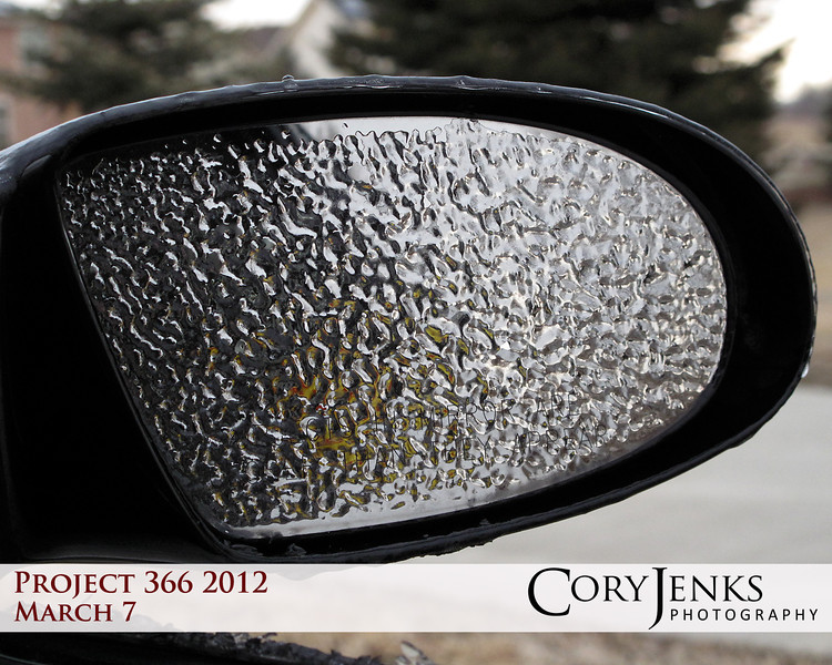 Project 366: March 7 - Iced Mirror. Mirror, mirror on the car, why did the temperature drop so far?<br /> <br /> 40 degress colder than yesterday.