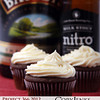 Project 366: March 8 - Stout Cakes. A stout beer chocolate cupcake with Bailey's Irish Cream frosting.