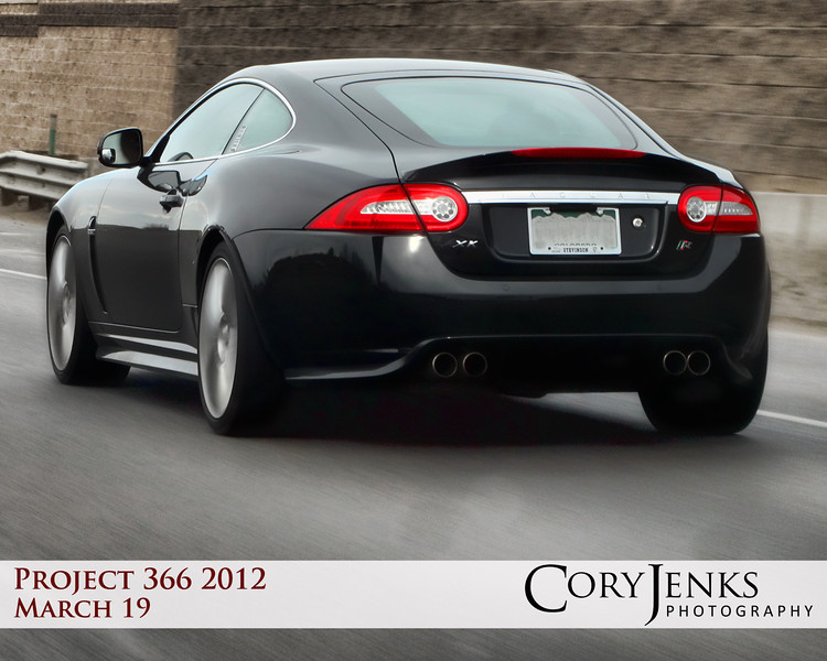 Project 366: March 19 - Envy. A deadly sin, but the gentleman driving this had a little of mine. Jaguar XK. Sweet ride.