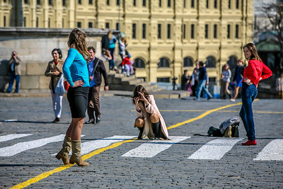 Street Fashion Show, Red Square, Moscow