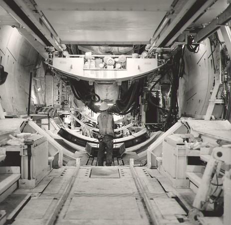 Installing Tunnel Segments Inside TBM (Photo credit: Ken Karagozian)