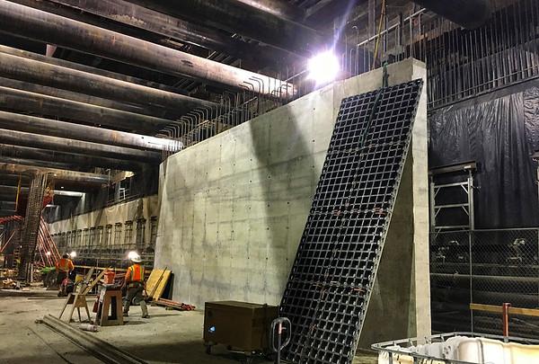 Wilshire/La Brea Station construction, Dec. 2018