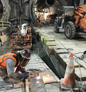 Wilshire/La Brea Station construction, Dec. 2018.