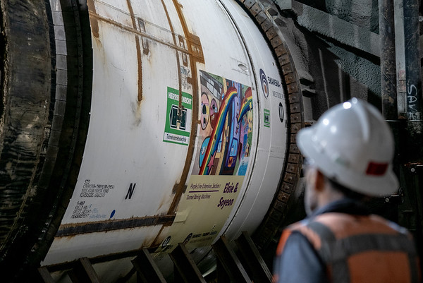 Purple Line Extension tunneling begins on Section 1 of project