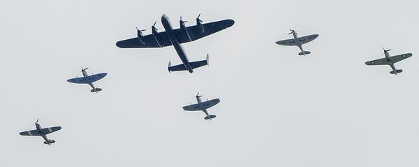 Lancaster, Spitfire etc