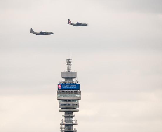 RAF 100 from Primrose hill