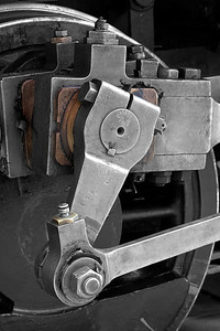 "Drive linkage Orange Empire Railway Museum, Perris, CA. Fine art print available, matted and framed, 18""x24"""