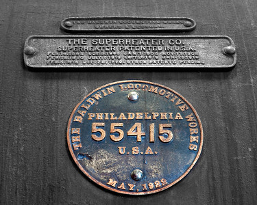 Baldwin nameplate Orange Empire Railway Museum, Perris, CA