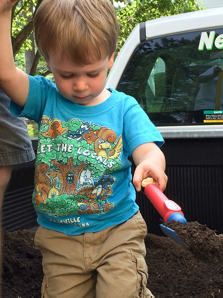 Little man moves some earth.