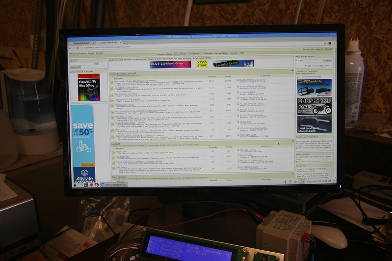 Driving a 1920 x 1080p monitor from the pi board connected through wifi.