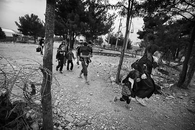 Idomeni, Greece/Macedonia border. October 2015. ------- Idomeni, frontière entre la Grèce la Macédoine. Octobre 2015.