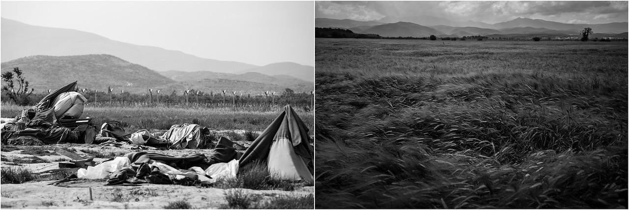 2016/2017<br /> Idomeni, former refugee camp at the border between Greece and Macedonia, Northern Greece.<br /> ------<br /> Chemin de fer d'Idomeni, ancien camp de réfugiés à la frontière entre la Grèce et la Macédoine, Nord de la Grèce.